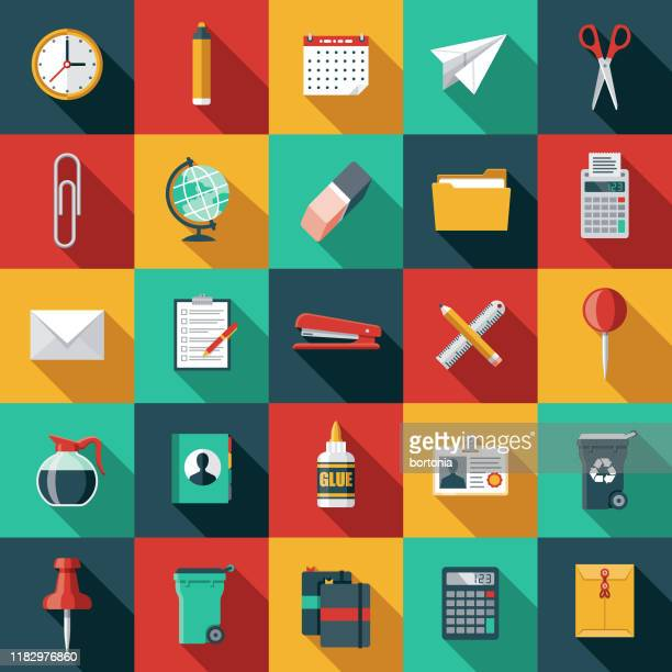 事務用品アイコンセット - 電子手帳点のイラスト素材/クリップアート素材/マンガ素材/アイコン素材
