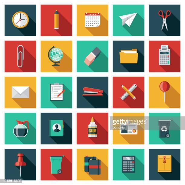 オフィス用品アイコンセット - 電子手帳点のイラスト素材/クリップアート素材/マンガ素材/アイコン素材