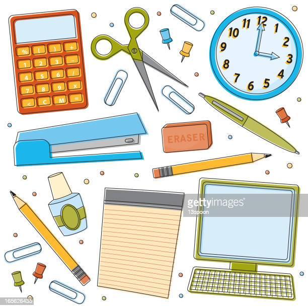 office supplies - correction fluid stock illustrations