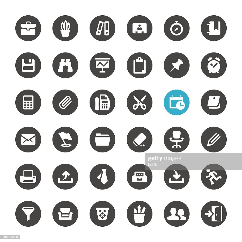 Office Supply and Paperwork vector icons