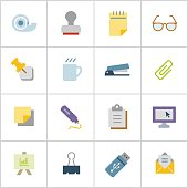 Office Supply Icons 1 — Poly Series