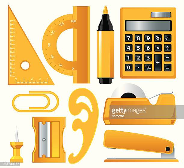 office supply - protractor stock illustrations, clip art, cartoons, & icons