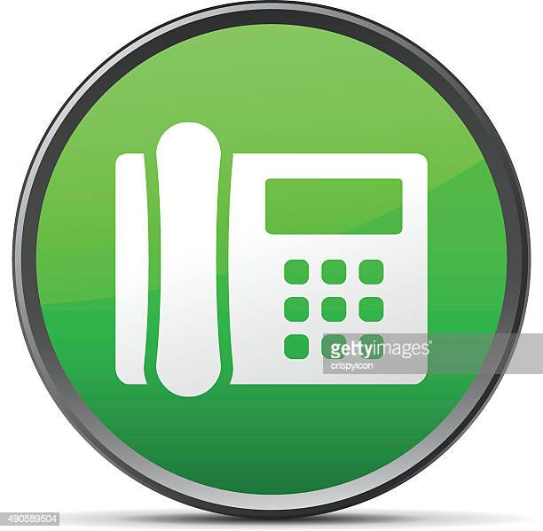 Office Telephone icon on a round button. - SlenderSeries