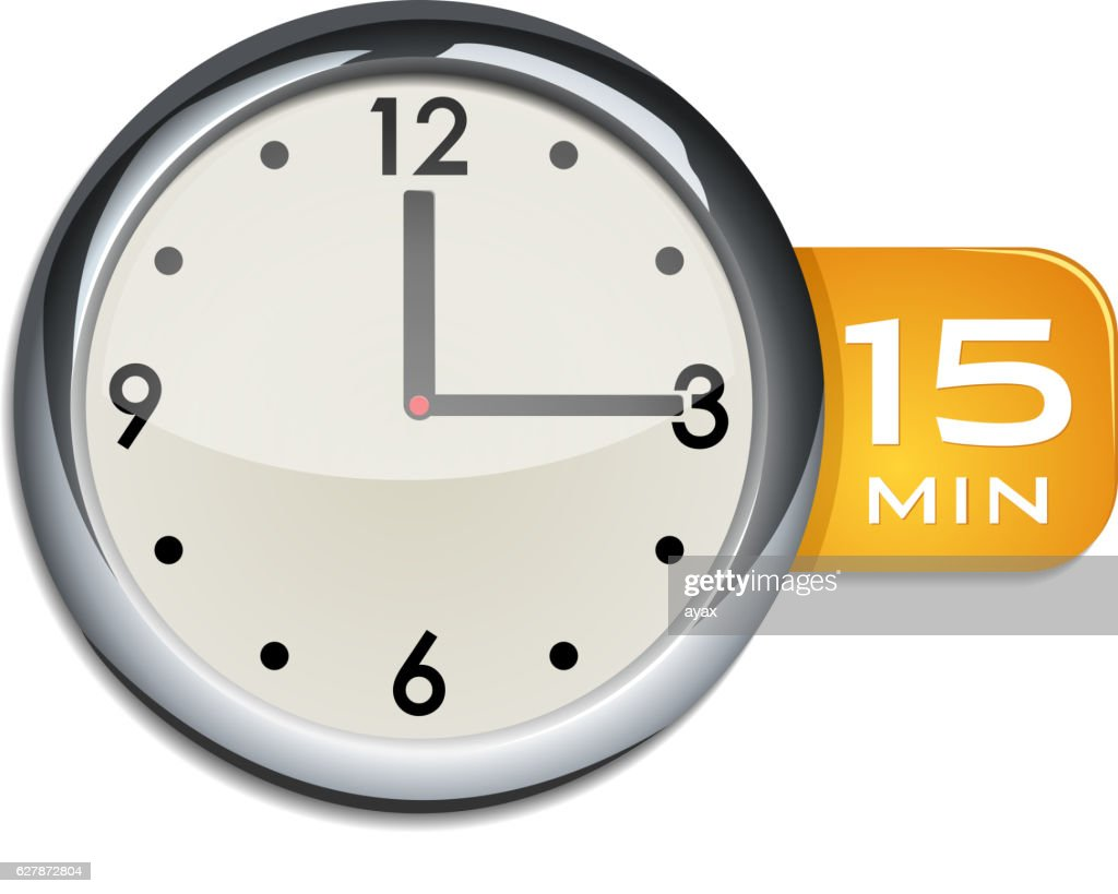 office wall clock timer 15 minutes vector art getty images