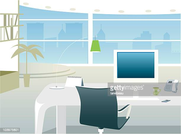 Office with a view interior
