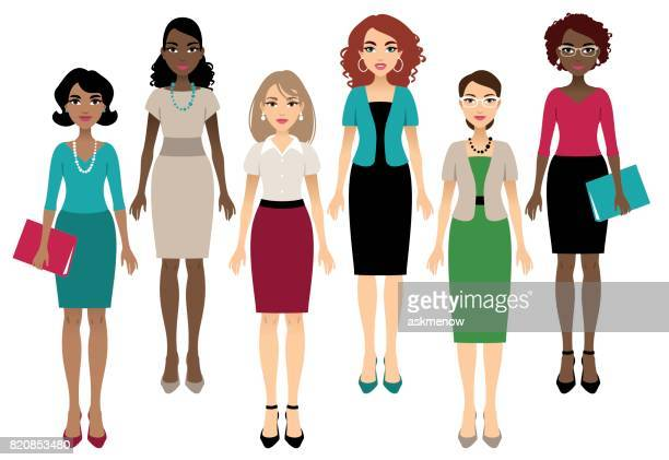 office women - only women stock illustrations, clip art, cartoons, & icons