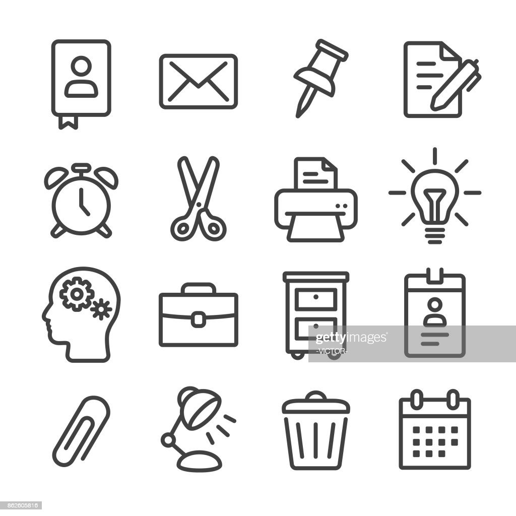 Office Work Icon Line Series High Res Vector Graphic Getty Images
