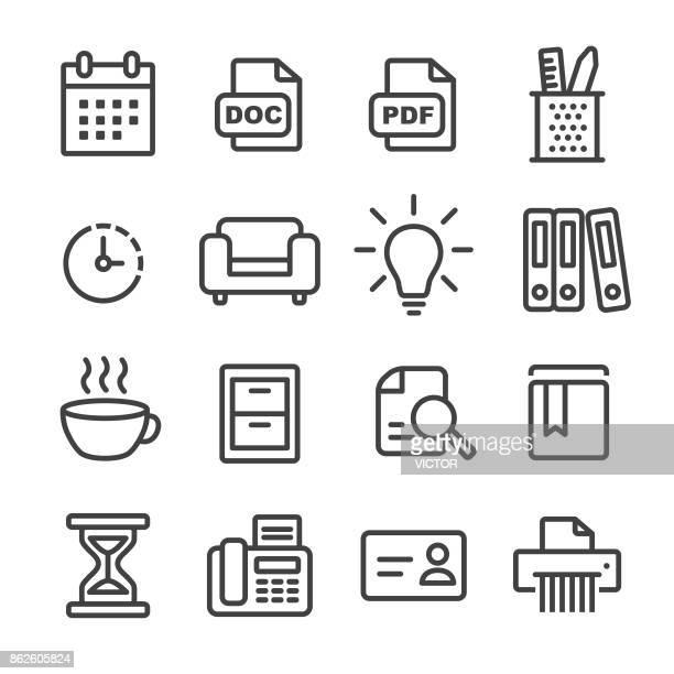 Office Work Icon Set - Line Series