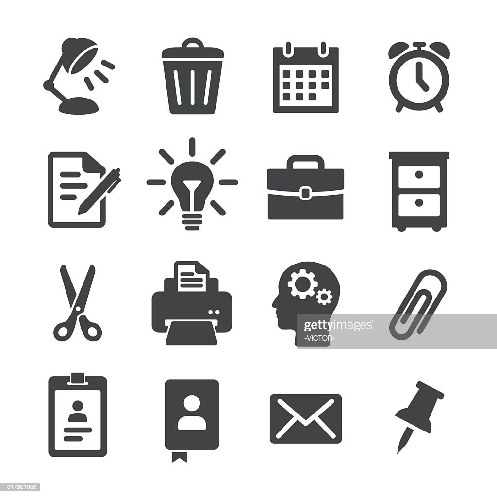 Office Work Icons - Acme Series : stock illustration