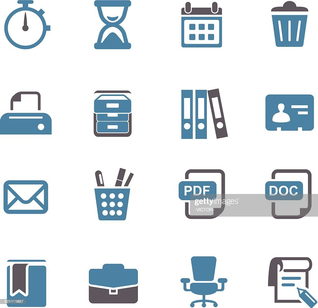 Office Work Icons - Conc Series