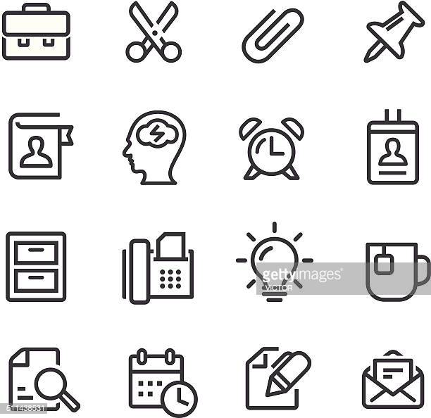 Office Work Icons - Line Series