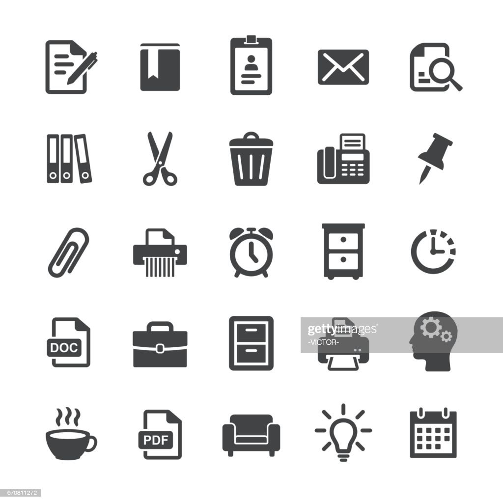 Office Work Icons - Smart Series : stock illustration