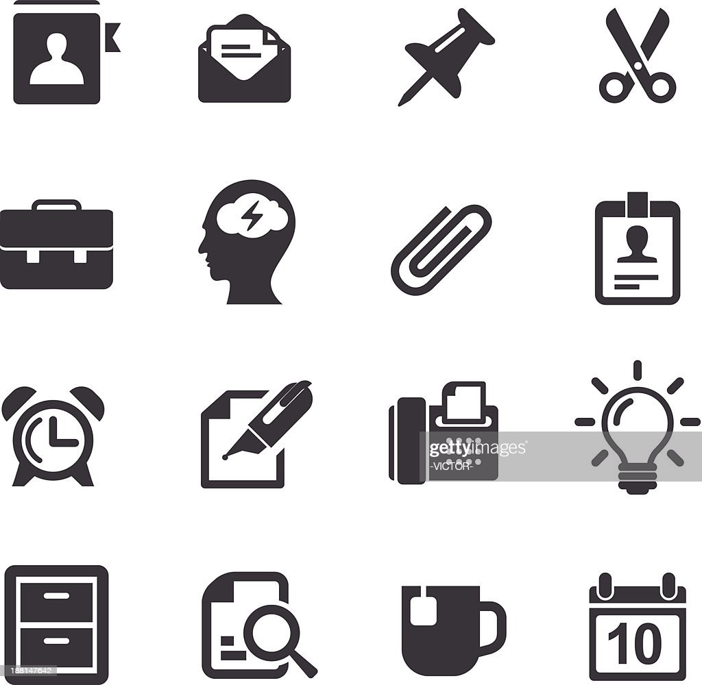 Office Work Icons-Acme Series : stock illustration