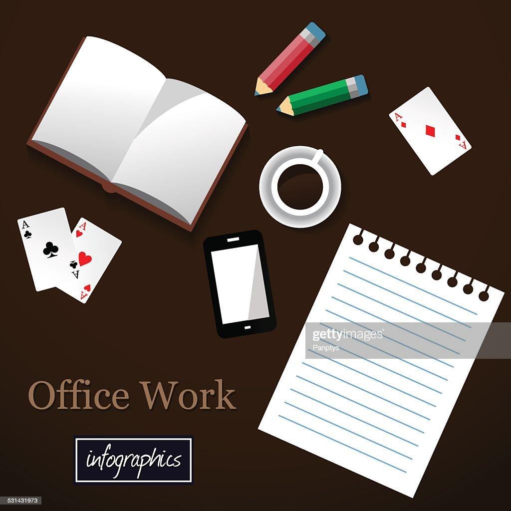 Office work illustration.
