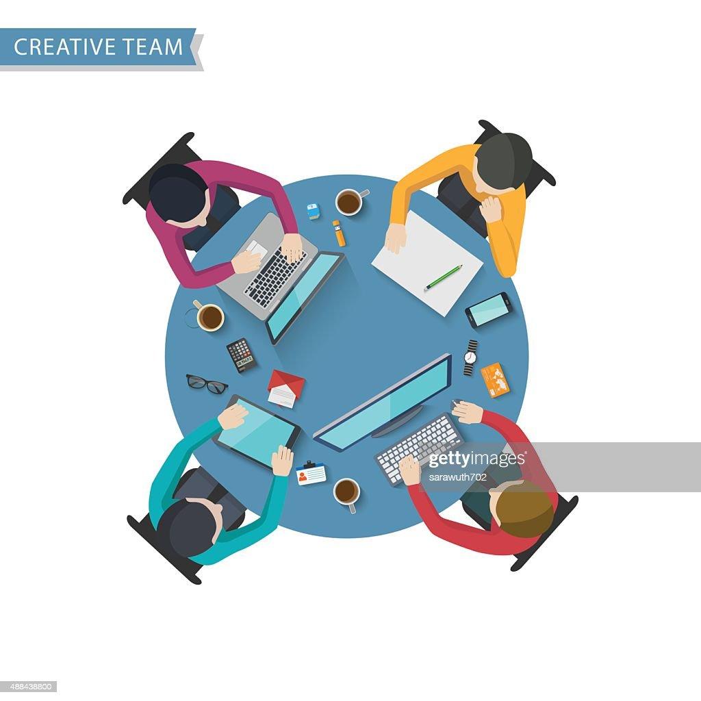 Office Worker, Business Meeting,Flat design