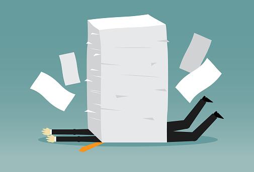 Office worker has lot of works - gettyimageskorea