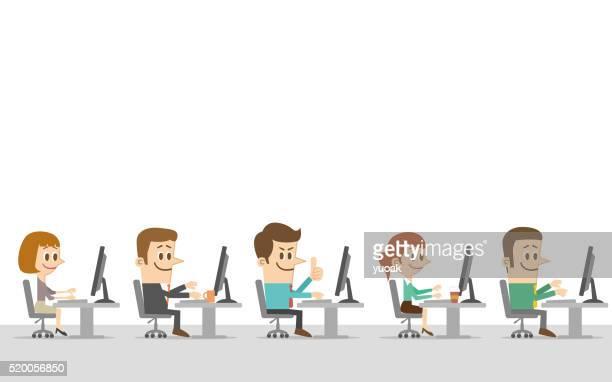 Employés de bureau