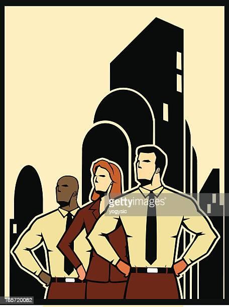office workforce - propaganda stock illustrations