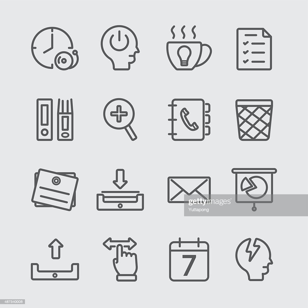 Office working line icon