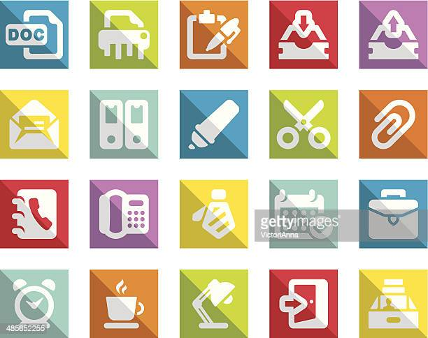 office_freedomy series_2 - rolodex stock illustrations, clip art, cartoons, & icons