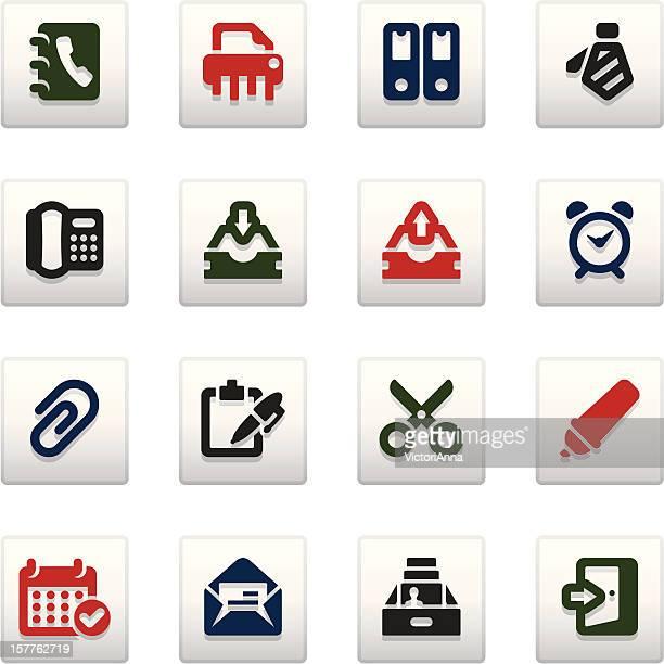 office_vividy series_13 - rolodex stock illustrations, clip art, cartoons, & icons