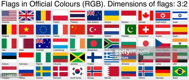 offizielle flaggen, mit offiziellen rgb-farben, ratio 3:2. - russische flagge stock-grafiken, -clipart, -cartoons und -symbole