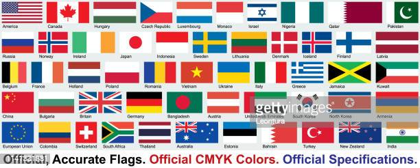 official flags (official cmyk colors, official specifications) - armenian flag stock illustrations