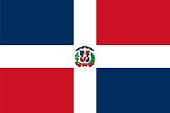 Official vector flag of Dominican Republic