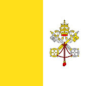 Official vector flag of Vatican City