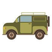 Off-road car suv in flat style a vector.The vehicle for trips
