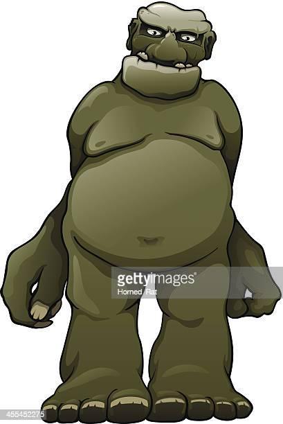 stockillustraties, clipart, cartoons en iconen met ogre - monster fictional character