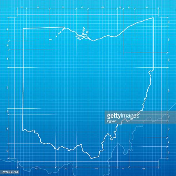 Columbus ohio stock illustrations and cartoons getty images ohio map on blueprint background malvernweather Gallery