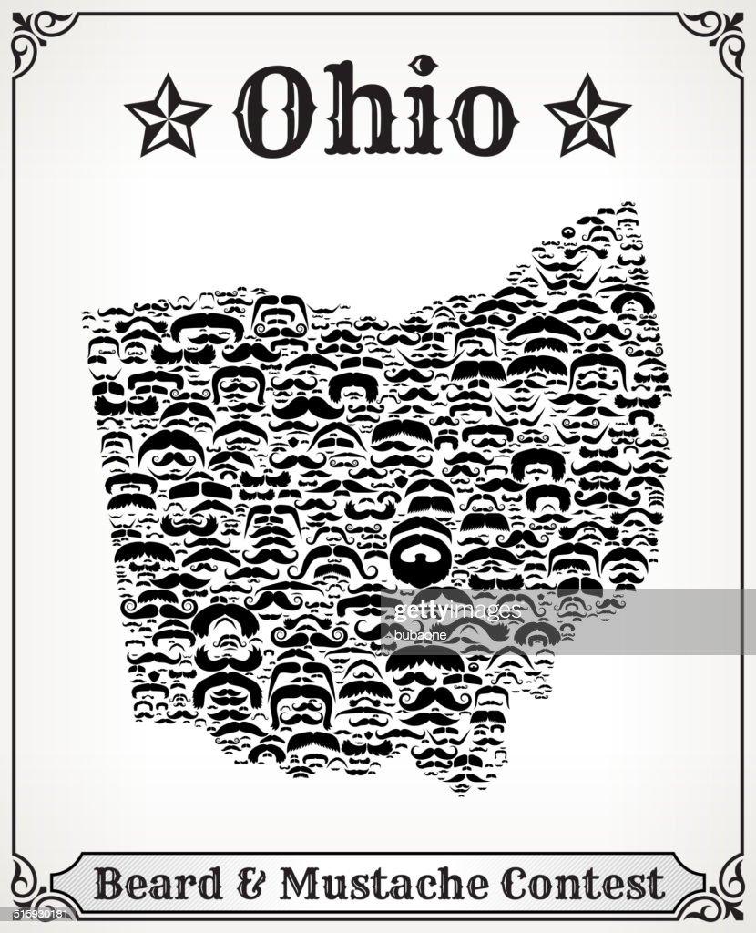 Free Ohio Map.Ohio Map On Mustache Royalty Free Vector Art Pattern Vector Art