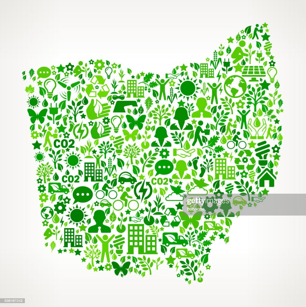 Ohio State Environmental Conservation and Nature interface icon Pattern