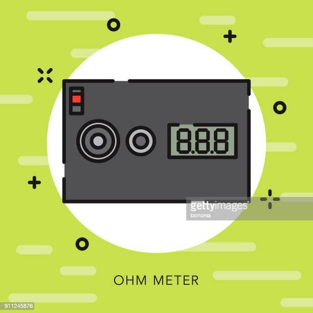 Icono de Vaping Ohm Reader contorno abierto