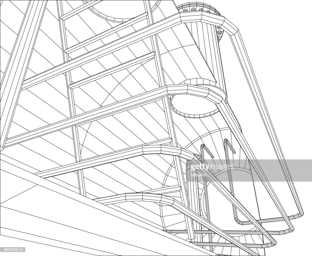 Oil and gas equipment. Industrial tank. EPS10 format. Vector created of 3d.