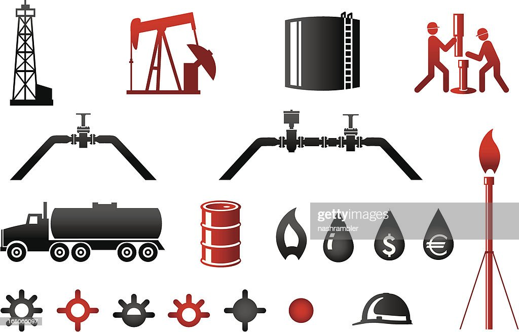 Oil and Gas Industry Icons Series 2 : stock illustration