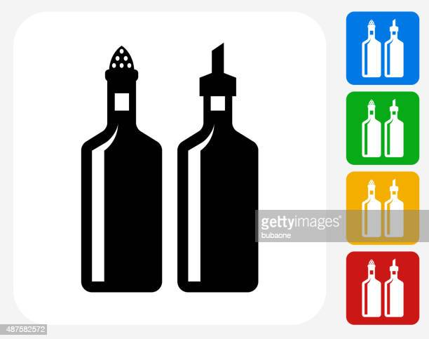 Oil and Vinegar Icon Flat Graphic Design