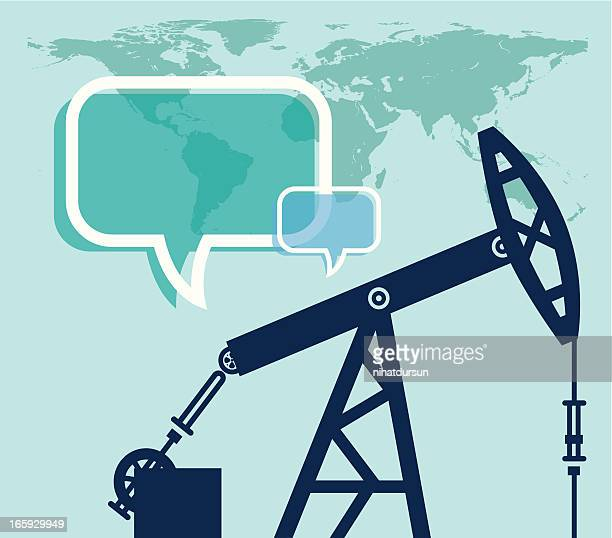 oil and world - petrochemical plant stock illustrations, clip art, cartoons, & icons