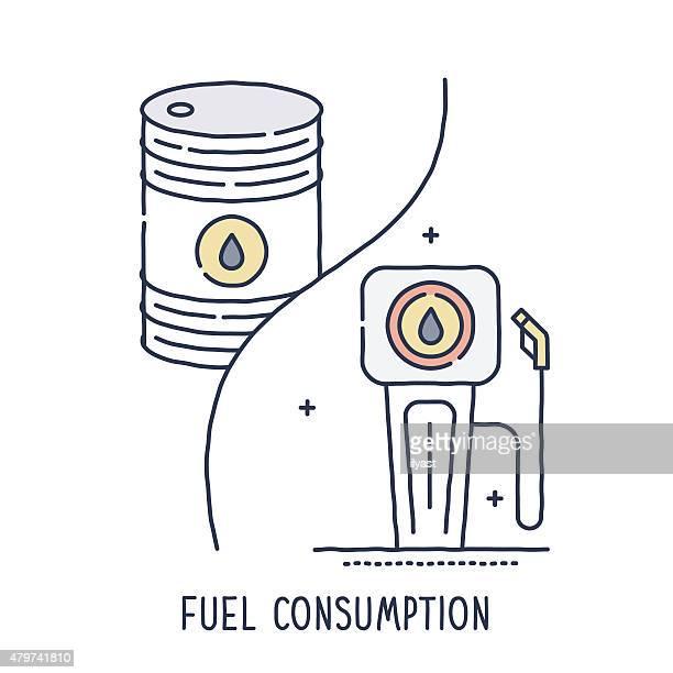 illustrations, cliparts, dessins animés et icônes de barrel et huile pompe à essence symbole - fuel pump