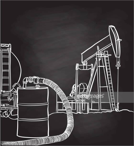 ilustraciones, imágenes clip art, dibujos animados e iconos de stock de barril de petróleo - torre petrolera