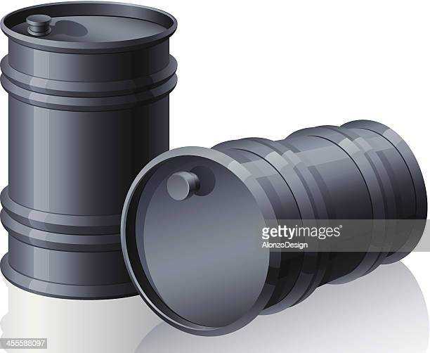 oil barrel - oil drum stock illustrations, clip art, cartoons, & icons