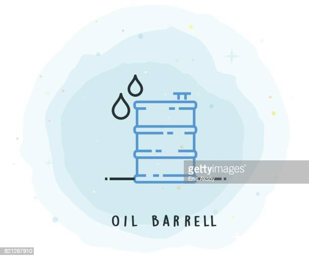 Oil Barrell Icon with Watercolor Patch