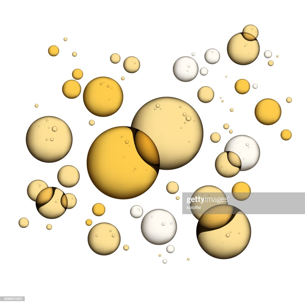 Oil Bubbles Isolated on White
