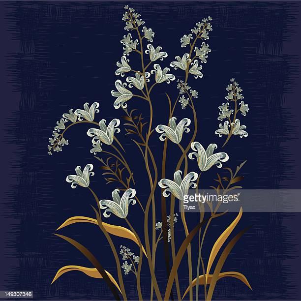 Oil color Dark floral Design