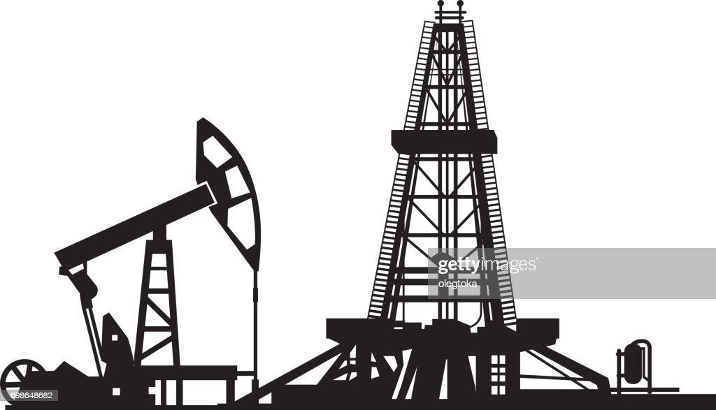 oil drilling derrick