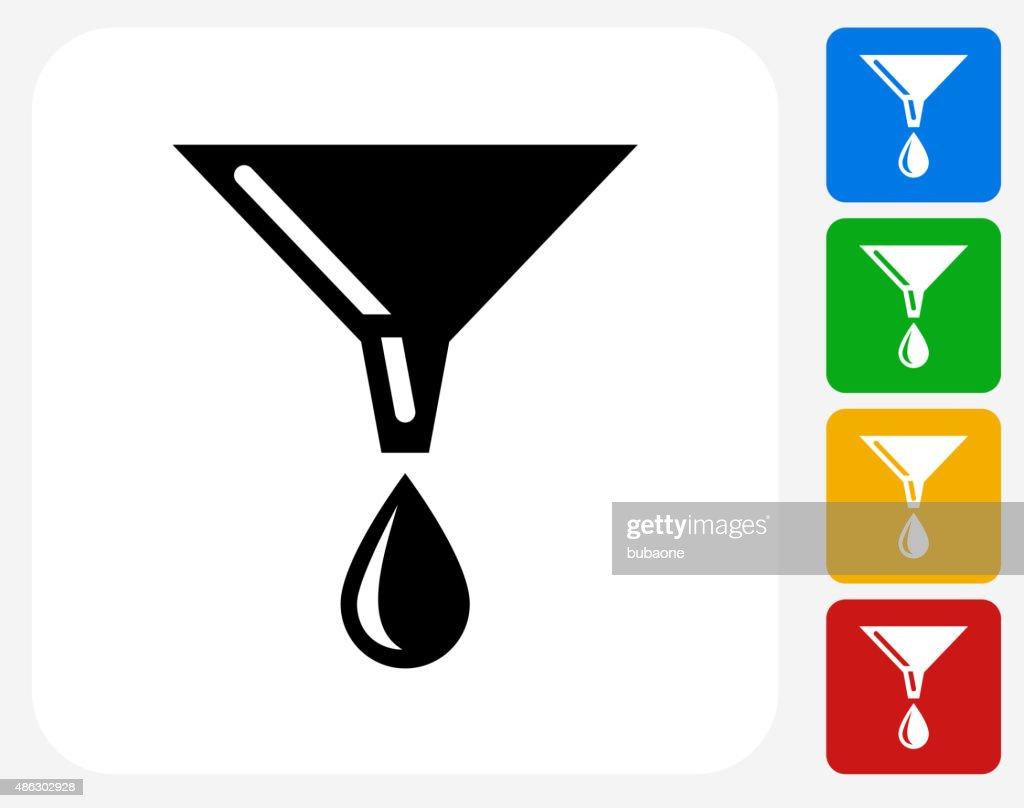 Oil Drip Icon Flat Graphic Design : stock illustration