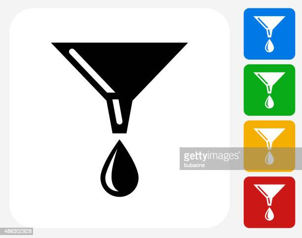 Oil Drip Icon Flat Graphic Design