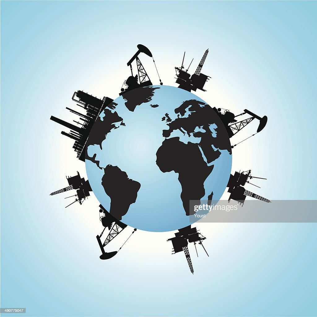 Oil Earth : stock illustration