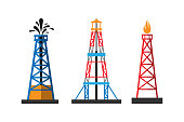 Oil extraction platform vector illustration
